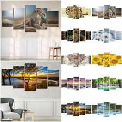5pcs Modern Picture Abstract Canvas Wall Art Painting Home Wall Decor Unframed