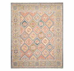 7and0399x9and0399 Nourison Hand Knotted Wool Sumak Multi Panel Bhakhtiari S138 Area Rug