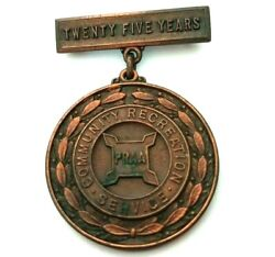 1917 Playground Recreation Association Of America Medal Military Support Mwr