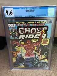 Ghost Rider 2 1973 - 1st Daimon Hellstrom - Cgc 9.6 With White Pages