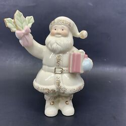 Lenox Christmas Santa Figurines With Gifts Cream Colored,6 Tall New No Box