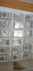 Lot Of 18 Certified Franklin Half Dollar Coins. Pcgs, Ngc, Pf 68, Various Years