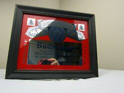 Budweiser Beer Mall Wall Mirror Set 12 X 10 And 10 X 8 Vintage Nice Look Light
