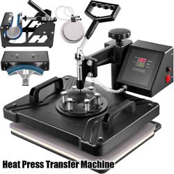 Heat Press Transfer Machine 5/6/8 In 1 Multi-functional Printing Sublimation Kit