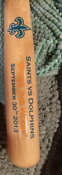 """Player Issued New Orleans Saints """"bring The Wood"""" Bat - Saints Vs Dolphins 2013"""