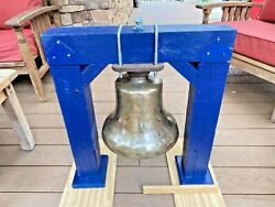 Operating Solid Bronze Locomotive Bell 12 Just Hook Up To Air, Ready To Go