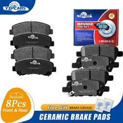 For 2008-2013 Nissan Rogue Front And Rear Ceramic Brake Pads