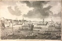 View Of Gravesend Troops To Tilbury Antique Military Print View Fort 1840 F West