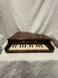 Antique Schoenhut Toy Dopl Baby Grand Piano Early 1900s 15 Leys