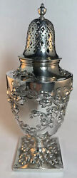 Gorham Sterling Silver Muffineer / Sugar Shaker Floral Repousse Decorations