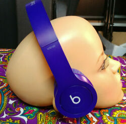 Beats By Dr. Dre Solo Hd Drenched Headband Headphones Purple Dark Blue Clean Af