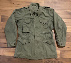 Vintage Korean War Era Us Army M-1950 Field Jacket Without Liner Dated May 1951