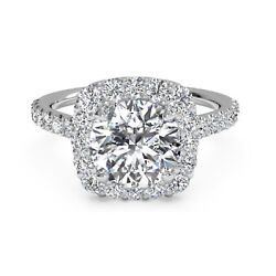 0.90 Ct Round Real Diamond Wedding Rings For Her 14k White Gold Size 5 6 7 8 9