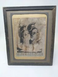 Collectible Religious Lithograph Print Of Hindu Deity Shiva And Parvati 11 X 9