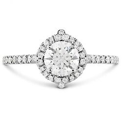 0.70 Ct Round Cut Real Diamond Beautiful Rings Solid 14k White Gold Size 6 7 8 9