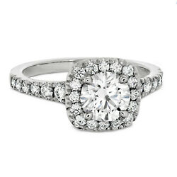 0.70 Ct Round Cut Real Diamond Engagement Rings 14k White Gold Size 5 6.5 7 8 9