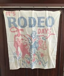 Rodeo Banner 1950's Steer Bronc Riding Banner Rodeo Days Poster