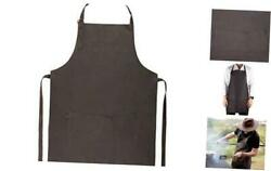 Yayas Leather Apron - Full Of Style And Elegance - Ideal For Bbq And Dark Brown