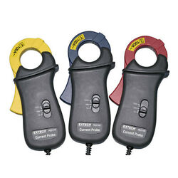 Extech Pq3110 R Y B 100a Current Clamp Probes Set Of 3