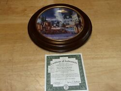 Early Morning Arrival Limited Edition Train Plate 1501a Bradford Exchange