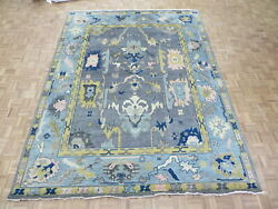 9'8 X 14'1 Hand Knotted Gray Modern Oushak Oriental Rug G10537