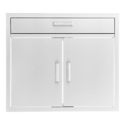 Bbqguys Signature 30-inch Stainless Steel Double Door And Single Drawer Combo