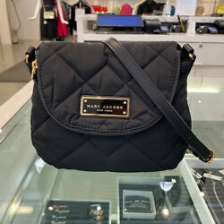 NWT RETAIL $180.00 MARC JACOBS QUILTED NYLON CROSSBODY BLACK M0011379 $89.99