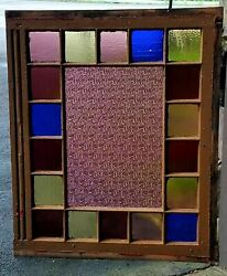 Post Civil War Xl Queen Anne Stained Glass Window Coal Region Storefront 1890s