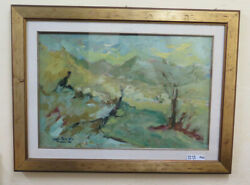 Livio Piebald Landscape Painting To Oil On Board Signed Dated 1981 Ps