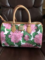 Dooney and Bourke Hydrangea Side Pocket Satchel and Coin Purse $99.00