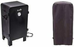 Analog Electric Smoker With Char-broil Performance Smoker Cover, Kettle Grill