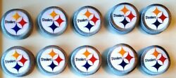 10 Nfl Pittsburgh Steelers Nfl Iron-on Patches.mint.lot.fast Ship.afc Big Ben