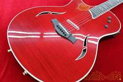 Taylor T5 Pro L/h Brr Lefty Red Made In Usa 2014 Electric Acoustic Guitar U1004