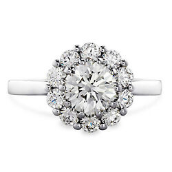 0.70 Ct Round Cut Real Diamond Beautiful Rings Solid 18k White Gold Size 5 6 7 8