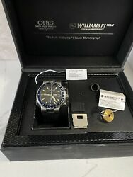 Oris Williams F1 Team Chronograph 42mm Limited Edition Menand039s Watch Black Strap