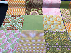 2 Small Quilt Tops 26in X 26in Pillow Covers Pink Green All Occasion