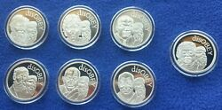 7 Oz Silver .999 Silver Shield Disobey Full Set Mini Mintage Golden State Mint