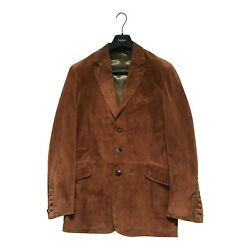 Paul Smith Mainline 100 Suede Brown Jacket Size 40 P2p 20