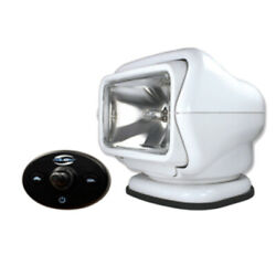 Golight Stryker Searchlight 12v W/wired Dash Control W/20and039 Wire Harness - Whi...