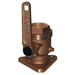 Groco 3/4 Bronze Flanged Full Flow Seacock