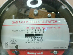 Honeywell C437d2003 Gas A/g/lp Pressure Switch 1-26 Water - New In Box