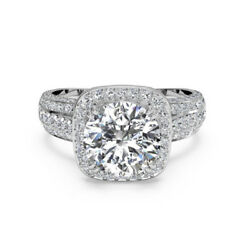 1.15 Ct Vrai Diamant Fianandccedilailles Beau Bague 14k Blanc Solide Or Taille M N O P