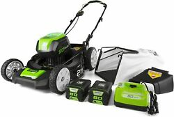 80v 21 Inch Brushless Cordless 3 In 1 Push Mower With Battery And Charger