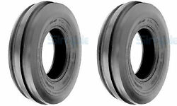 Two 4.00-19 Tri-rib 3 Rib Front Tractor Tires And Tube 8n 9n Ford Heavy Duty 6 Ply