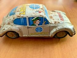 Pan Am Tin Toy Vw Volkswagen Beetle Airport Service Panam Taxi