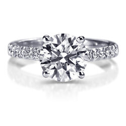 Msrp 6,850 1.30 Ct Solitaire Diamond Engagement Ring White Gold I2 43752890