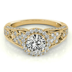1.10 Ct Real Diamond Engagement Rings 14kt Yellow Gold Ring Size 4.2/5 6.5.sale