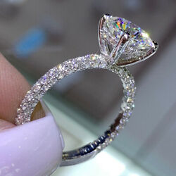 Round Cut 1.20 Ct Christmas Sale Real Diamond Ring 18k White Gold Size 5 6 7 8 9