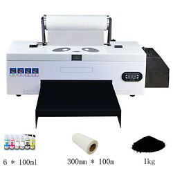 Dtf Flatbed Printer Direct To Film Home Business W/ Roller Feeder Batch Printing