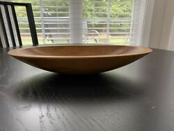Wooden Oval Carved Bowl 15andrdquo